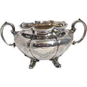 Sterling Silver Double Handled Sugar Bowl