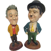 Tall Laurel and Hardy Figurines