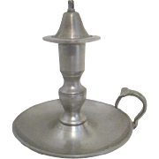 Pewter Candle Holder and Snuffer by Woodbury Pewterers