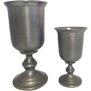 Two Pewter Holloware Goblets from Colonial Casting Co.