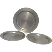 Three Pewter Holloware Plates from Colonial Casting Co.