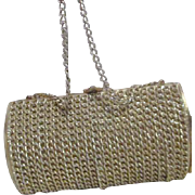 Gold Tone Chain Link Purse by MAGID Japan