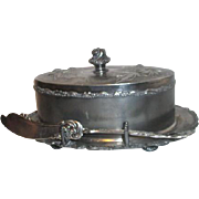 Barbour Silver Plated 4 Piece Butter Dish with Lid, Strainer and Butter Knife