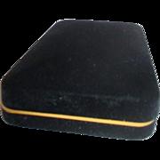 Black Velveteen Necklace Presentation Box