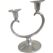 Metawa Holland Real Pewter Double Candleholder