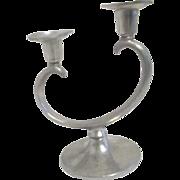 Metawa Holland Real Pewter Double Candleholder