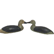 Pair of Carved Wood Ducks Wall Hanging