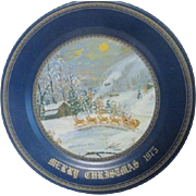Grandma Franklin (Queenie Franklin) Metal Christmas Plate