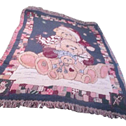 Three Teddy Bears Christmas Throw