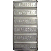 Vintage Ghirardelli Chocolate Candy Mold
