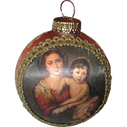 Masters on Silk Christmas Globe Ornament