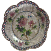 Small Cloisonne Plique-a-Jour Bowl in Original Box