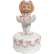 Cat Ballerina on Cake Music Box S.F. Music Box Company