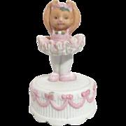 Cat Ballerina on Cake Music Box S.F. Music Box Company