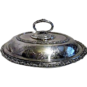 Ornate Silverplate Serving Bowl with Convertible Lid
