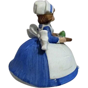 Nurse with Medicine Tray Revolving Music Box Plays Spoonful of Sugar