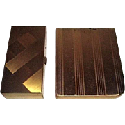 Set of Two Goldtone Cigarette Cases