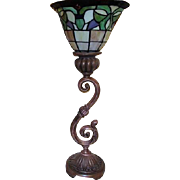 "22"" High TAble Lamp with Stained Glass Style Shade"