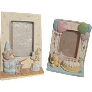 Two Small Stand-Up Picture Frames for Child's Photo