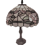 """17"""" Electric Lamp with Pastel Mosaic Design Shade"""