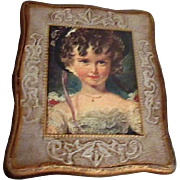 Wooden Jewel Case from Mele & Co. with Young Girl on Lid