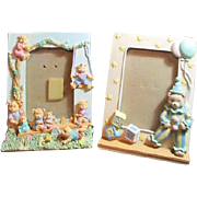 Two Stand-Up Picture Frames for Child's Photo