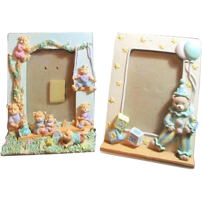 two stand up picture frames for child 39 s photo from somethingwonderful on ruby lane. Black Bedroom Furniture Sets. Home Design Ideas