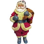 Paper Mache Santa from Santa's World in Original Box