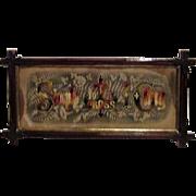 Antique Wood Framed Religious Stitchery