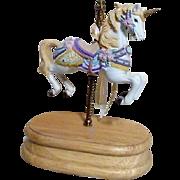 Carousel Style Unicorn Music Box