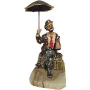 Ron Lee Sculpture of Emmett Kelly Jr. Signed by Artist 1983