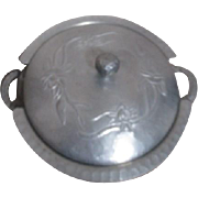 Double Handled Lidded Hammered Aluminum Casserole with Pyrex Glass Insert