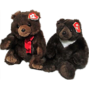 Pair of TY Teddy Bears
