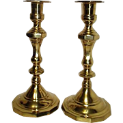 Pair of Brass Candlesticks Made in India