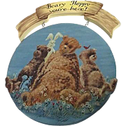 Beary Happy You're Here Wooden Hanging Sign with Bears