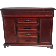 Large Chest Buffet Style Wooden Jewelry Box with Mirror