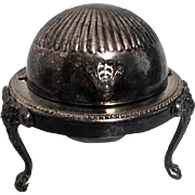 Silver Plated Covered Footed Butter Dish by F.B. Rogers