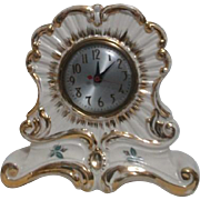 Elaborate Ceramic Electric Table Clock 1930's