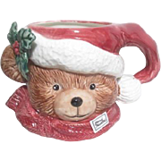 Teddy Bear Christmas Mug by FF 1991