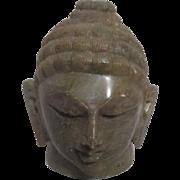 Green Soapstone Head of Buddha Inspirational Paperweight