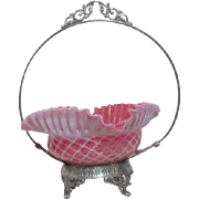 Silver Plated Bride's Basket by Kelley & Mcbean Company