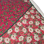 Large Quilted Lap Cover Christmas Motif