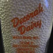 One Quart Milk Bottle/Decorah Dairy West Bend, WI