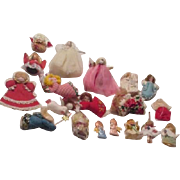 19 Angels Assorted Patterns Christmas Ornaments