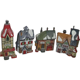 '91 Dept 56 Heritage Collection North Pole Series Set of 4 Buildings