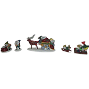 2 Sets Dept 56 Heritage Village Collection North Pole Series 1992 Accessories