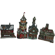 '93 Dept 56 Heritage Collection North Pole Series Set of 4 Buildings