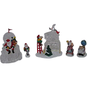 3 Sets Dept 56 Heritage Village Collection North Pole Series 1995 Accessories
