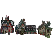 '97 Dept 56 Heritage Village Collection North Pole Series 3 Buildings