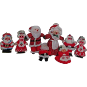 Set of 4 Mr. & Mrs Claus Christmas Hanging Ornaments